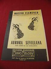 Partition Motivo Flamenco Maravella Trompette solo Aurora Sevillana Paso doble