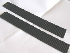 2x Ribbed Grooved Antivibration Rubber Strip Neoprene 25 x 200 x 4mm Pad mat