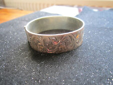 Unusual Solid Silver Bangle (Old) - 44gms