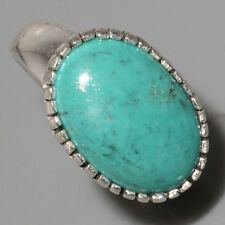 A3347 Tibet Turquoise & 925 Silver Overlay Ring Us 8.75 Gemstone Jewellery