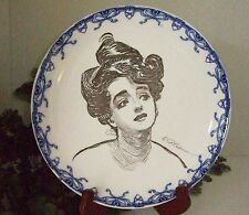 1900/15 Royal Doulton Gibson Girl Portrait/Heads Series Ware Plate A~RARE~7 of 8