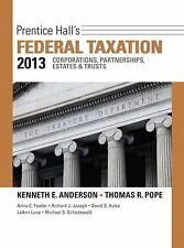 Prentice Hall's Federal Taxation 2013 Corporations, Partnerships, Estates & Trus