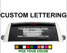 3-4 Line Back Custom Window Business Truck Car Vehicle Vinyl Lettering Decal