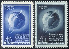 Russia 1957 Space/Satellites/Globe/Rockets/Science 2v set (n33108)
