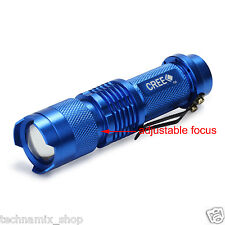 UltraFire LED Mini Handheld Flashlight Camping Small Torch Small Cree Best Blue