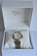 Tabitha Webb Ladies' Quartz Gold Plated Stainless Steel Bracelet Watch  ~AA53