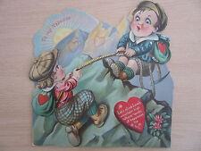 """Victorian Animated Valentines Day Card """"Let's Climb Love's Mountain"""""""