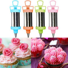 Stainless Steel Cake Decoration Nozzles Pastry Icing Piping Syringe Gun Set