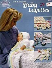Knit & Crochet Baby Layettes Crochet Pattern Book~Afghans,Bonnets,Booties