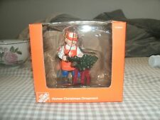 HOME DEPOT HOMER CHRISTMAS ORNAMENT CUTTING TREE WITH SAW NEW IN BOX