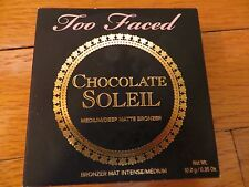 Too Faced Chocolate Soleil Bronzer MEDIUM DEEP SKIN TONE MATTE .35 OZ NEW IN BOX