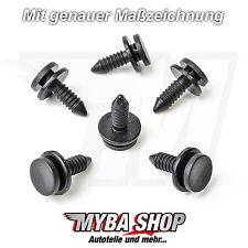 5x Türverkleidung Clips Befestigung Clip Audi A3, VW Golf, Schwarz 3B0867333