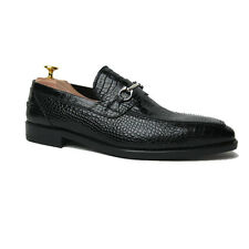 NIB DI MELLA Napoli Horsebit Loafer Shoes 7 (6) Hand-made in Italy Fatte a Mano