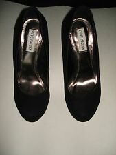 Authentic Steve Madden Size 8M Caryssa Black Suede Pumps Heels Womens Shoes