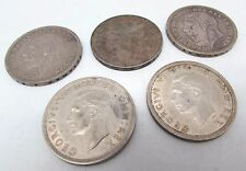 Collection of 5 x Mixed 1935 & 1937 GEORGE V & VI Silver Crown Coins - 142g