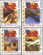 Rumänien 4165-4168 (kompl.Ausg.) gestempelt 1985 Generalsekretär Ceausescu EUR 1