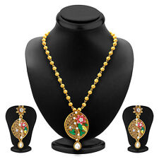 Sukkhi Glimmery Gold Plated Pendant Set For Women 4165PSGLDPP850