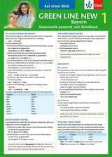 Green Line New Bayern 1 - Auf einen Blick Grammatik passend zum Schulbuch Klappk
