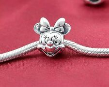 Perfect Gift Genuine Pandora S925 Ale Disney Minnie Mouse Head Charm