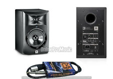 "JBL LSR305 5"" Active Powered 2-Way Home Studio Speaker Monitor + MR DJ 1/4""-XLRM"