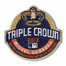 2012 MLB Season Miguel Cabrera Triple Crown Winner Detroit Tigers Jersey Patch