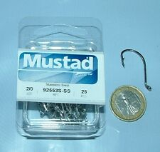 MUSTAD 25 AMI 92553 S SIZE 2/0 STAINLESS STEEL PESCA 92553S OCCHIELLO