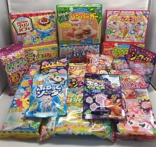 Kracie 19 pcs Japanese DIY making candy kit Happy kitchen popin cooking