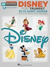 Disney Trumpet Easy Instrumental Play-Along Book with Online Audio Tra 000122188