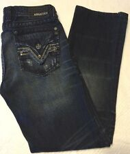 Mens Affliction Blake by Buckle size 33 Long distressed sweet & sexy black