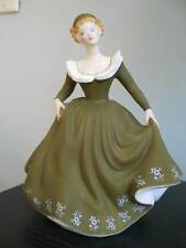 ROYAL DOULTON GERALDINE HN 2348 Bone China Collectible Lady Figurine Green