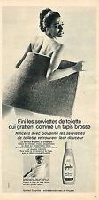 PUBLICITE ADVERTISING 044  1967  SOUPLINE   assouplissant linge