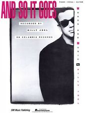 And So It Goes Sheet Music Piano Vocal Billy Joel NEW 000490540