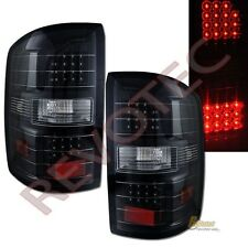 14-16 GMC Sierra 1500 / 2015 Sierra 2500HD Pickup Black LED Tail Lights Lamps