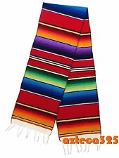 """Large Woven Sarape Table Runner 12"""" Wide"""
