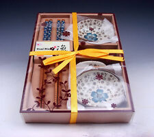 Gift Set Chinese Dining Ware Chopsticks & Holders & Saucers BRAND NEW #01071601