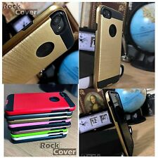 Apple iPhone 7 Case  Metal Effect Tech 2 Premium Protective Layer Rugged Gold