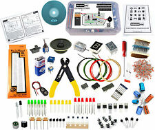 ELECTRONIC COMPONENTS KIT/ULTIMATE DIY KIT (450+ PARTS WITH BREADBOARD & WIRES)