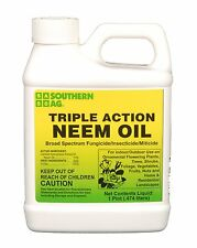 Triple Action Neem Oil 16oz Pint Organic Insecticide / Fungicide / Miticide