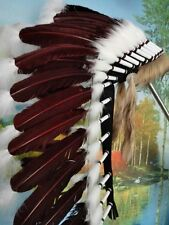 28inch indian feather headdress indian warbonnet american costume