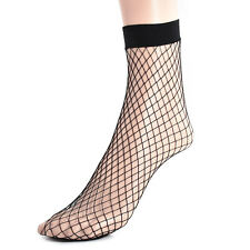 High Socks Black Lace Girls Women's Fishnet Ankle Lady Mesh Fish Net Short Socks