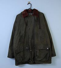 Vintage Wax Jacket In Green Hooded Waterproof Mc Orvis Made In England Small