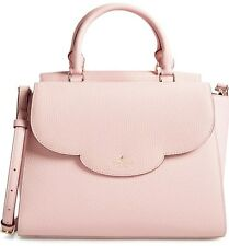 Kate Spade Makayla Leewood Place Leather Satchel Handbag Purse Pink Granite NWT