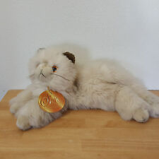 """Soft Classics Plush Cat Kitten Cream With Brown Ears Floppy 18"""" Including Tail"""