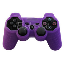 Silicone Rubber Skin Grip Protective Cover Case For Playstation 3 PS3 Controller