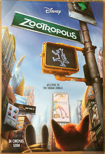 ZOOTOPIA MOVIE POSTER 2 Sided ORIGINAL INTL Advance 27x40 GINNIFER GOODWIN