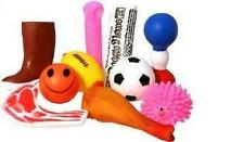Wholesale box of 100 Assorted Vinyl squeaky dog toys