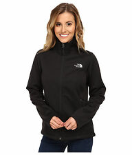 New Womens North Face Fleece Zip Coat Jacket Canyonwall Black XS