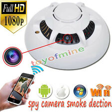 HD 1080p WiFi Spy Camera Hidden Smoke Detector Motion Detection Nanny Cam DVR S