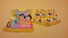 My Little Pony Toddler Girl Shirt & Shorts Pajamas 12 Months New Fire Resistant
