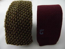 2 TRUNK WOOL COTTON TIES LANA COTONE CRAVATTE MADE IN ITALY  A1356